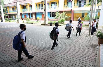 children going school